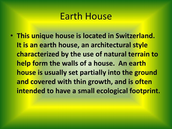 Earth house