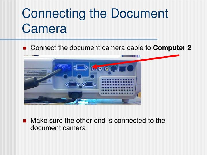 Connecting the Document Camera