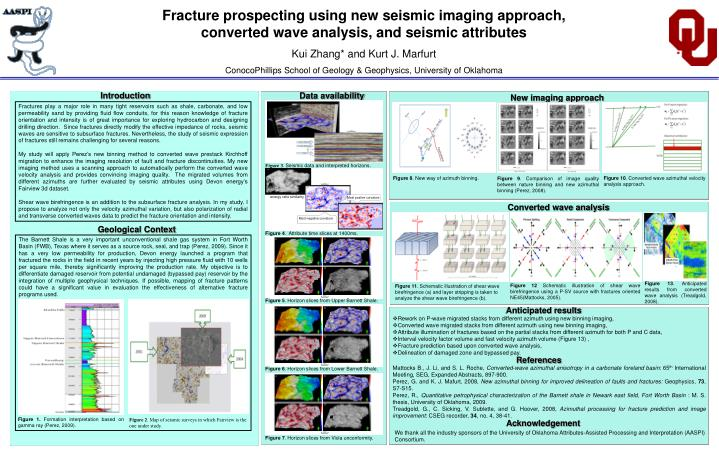 Fracture prospecting using new seismic imaging approach, converted wave analysis, and seismic attrib...