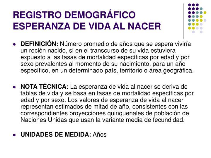 REGISTRO DEMOGRÁFICO