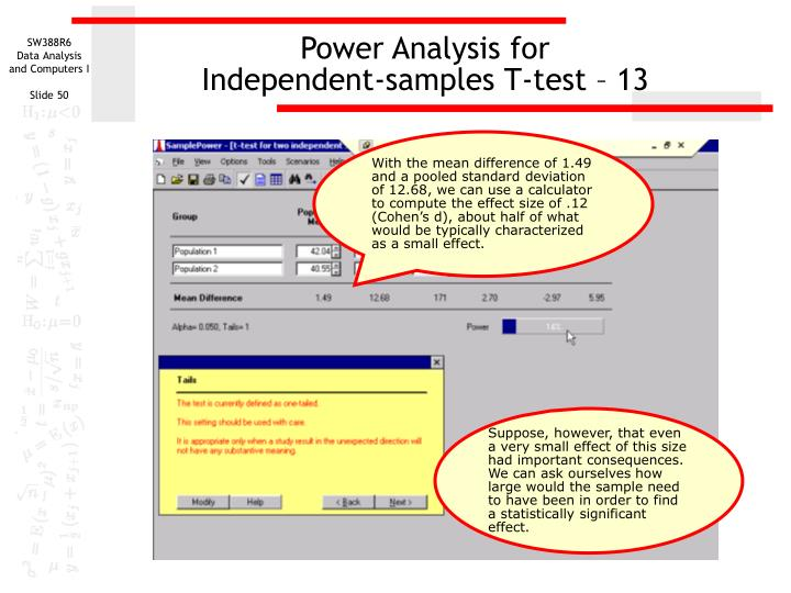 Power Analysis for