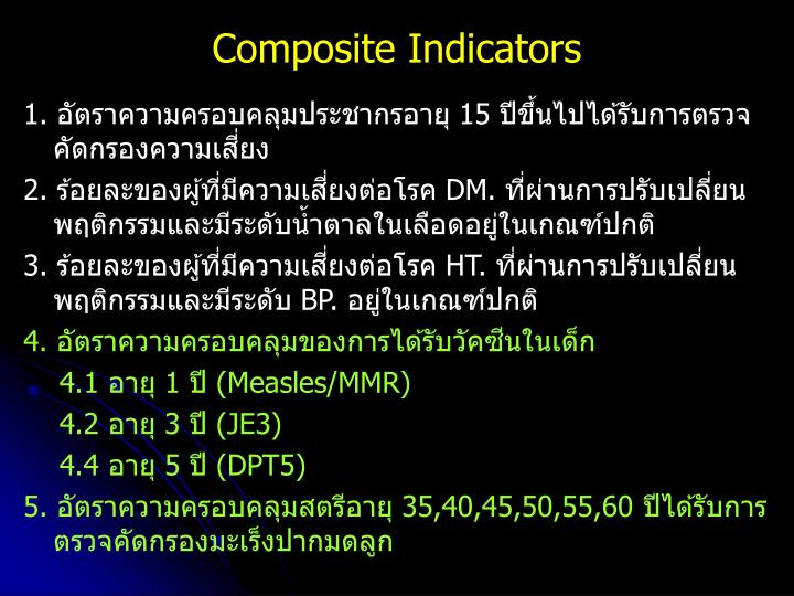 Composite Indicators