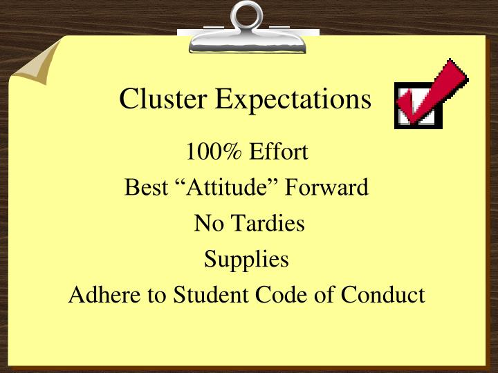 Cluster Expectations
