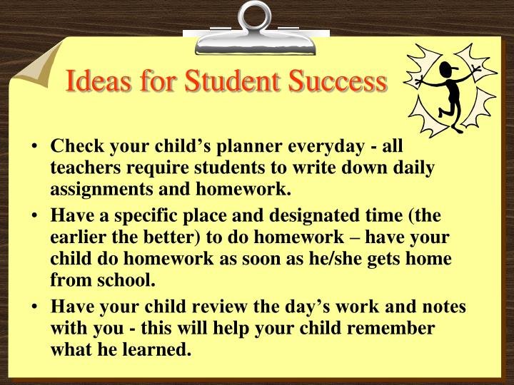 Ideas for Student Success