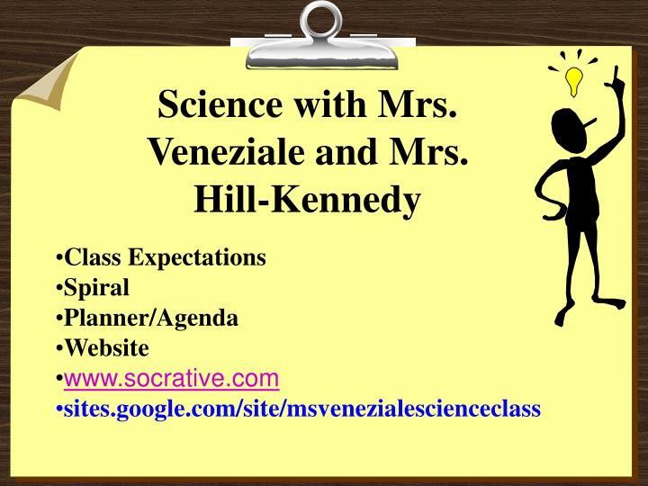 Science with Mrs. Veneziale and Mrs. Hill-Kennedy
