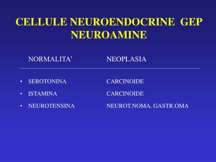 CELLULE NEUROENDOCRINE  GEP