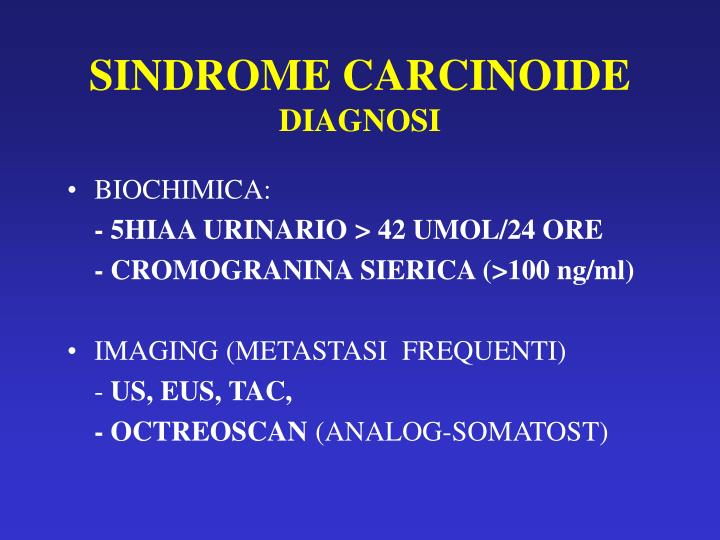 SINDROME CARCINOIDE