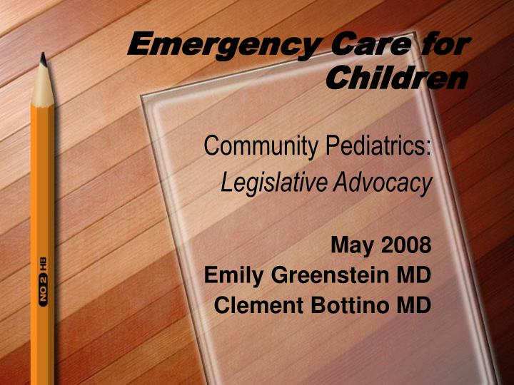 Emergency Care for Children