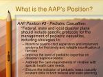 what is the aap s position2
