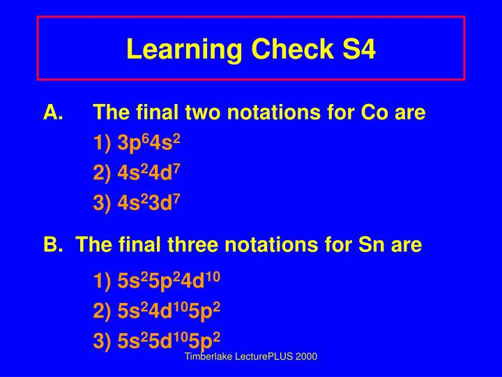 Learning Check S4