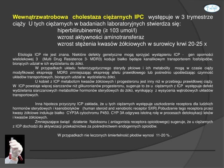 Wewnątrzwatrobowa  cholestaza ciężarnych IPC