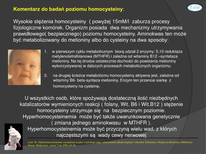 Komentarz do badań poziomu homocysteiny