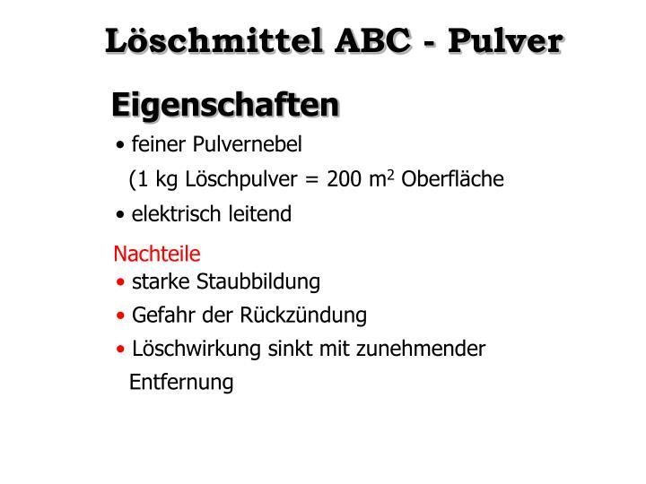 Löschmittel ABC - Pulver