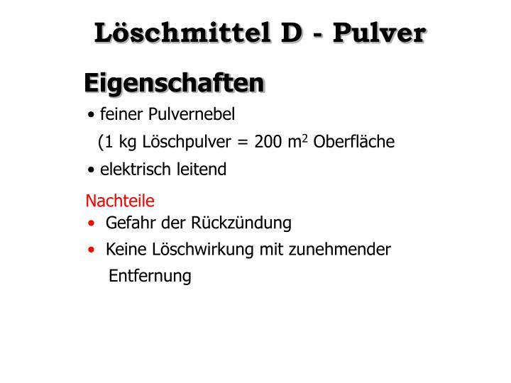 Löschmittel D - Pulver