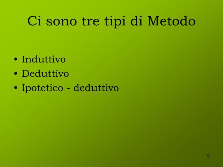Ci sono tre tipi di Metodo