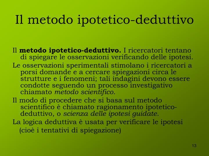 Il metodo ipotetico-deduttivo