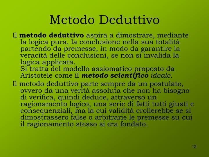 Metodo Deduttivo