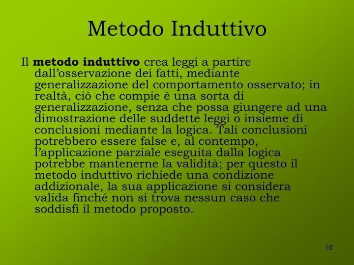 Metodo Induttivo