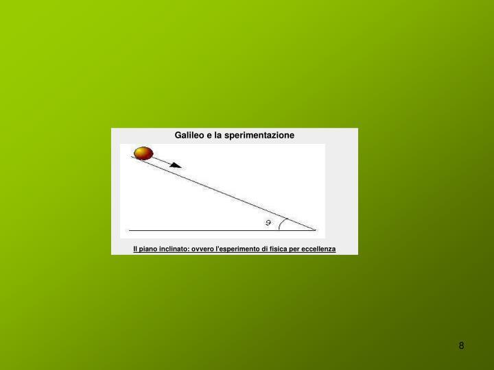 Galileo e la sperimentazione