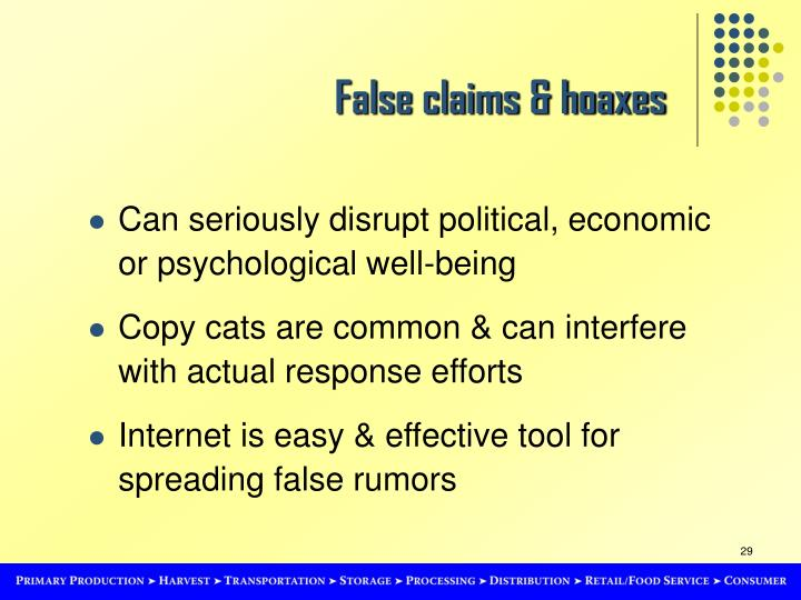 False claims & hoaxes