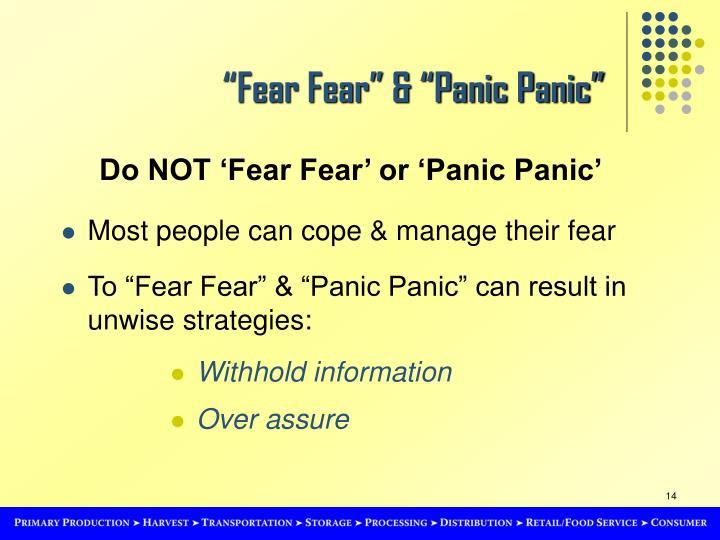"""Fear Fear"" & ""Panic Panic"""
