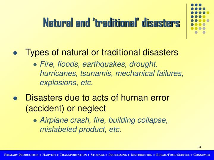 Natural and 'traditional' disasters