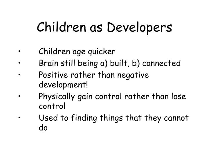 Children as Developers