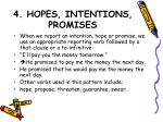4 hopes intentions promises