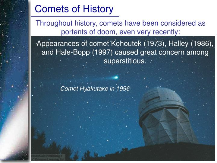 Comets of History