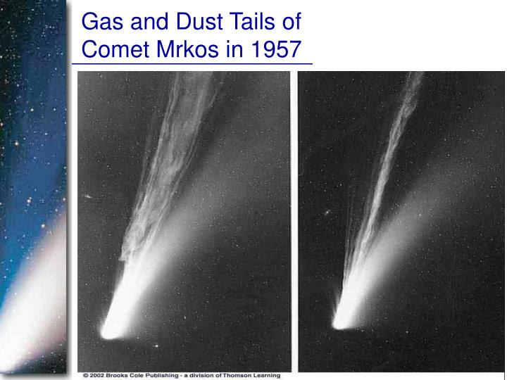 Gas and Dust Tails of