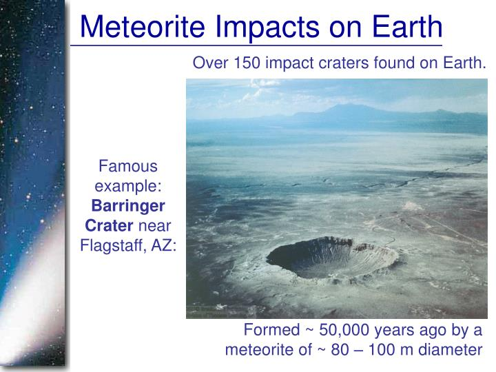 Meteorite Impacts on Earth