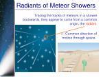 radiants of meteor showers