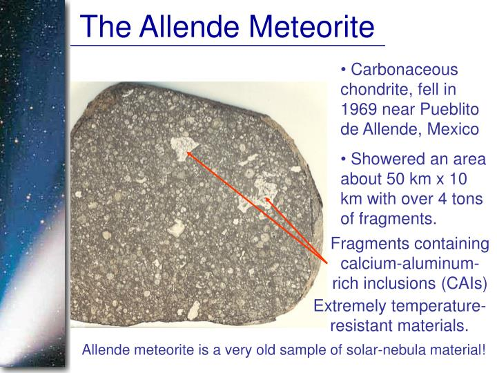 The Allende Meteorite