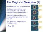 the origins of meteorites 2