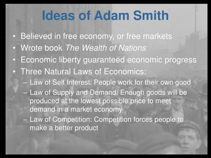 Believed in free economy, or free markets