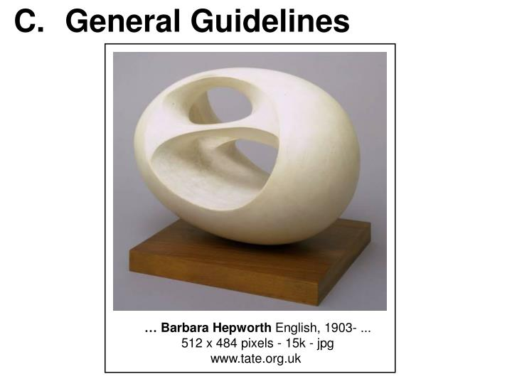 C.General Guidelines
