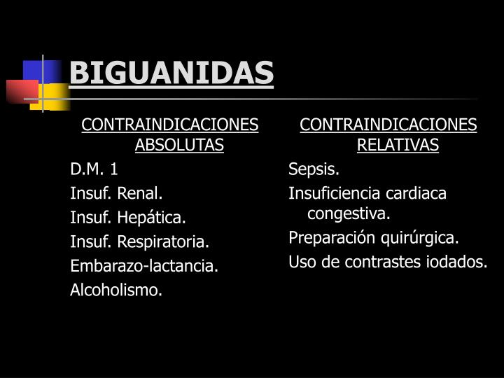 CONTRAINDICACIONES ABSOLUTAS