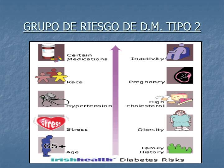 GRUPO DE RIESGO DE D.M. TIPO 2