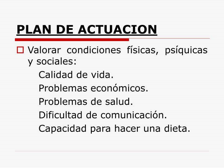 PLAN DE ACTUACION