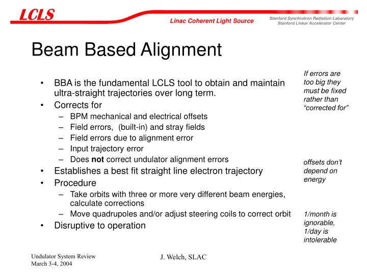 Beam Based Alignment