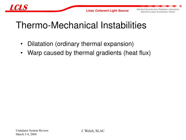 Thermo-Mechanical Instabilities