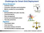 challenges for smart grid deployment