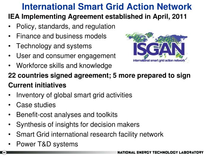 International Smart Grid Action Network