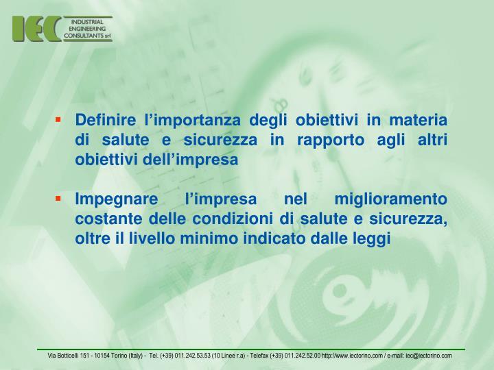 Via Botticelli 151 - 10154 Torino (Italy) -  Tel. (+39) 011.242.53.53 (10 Linee r.a) - Telefax (+39) 011.242.52.00 http://www.iectorino.com / e-mail: iec@iectorino.com