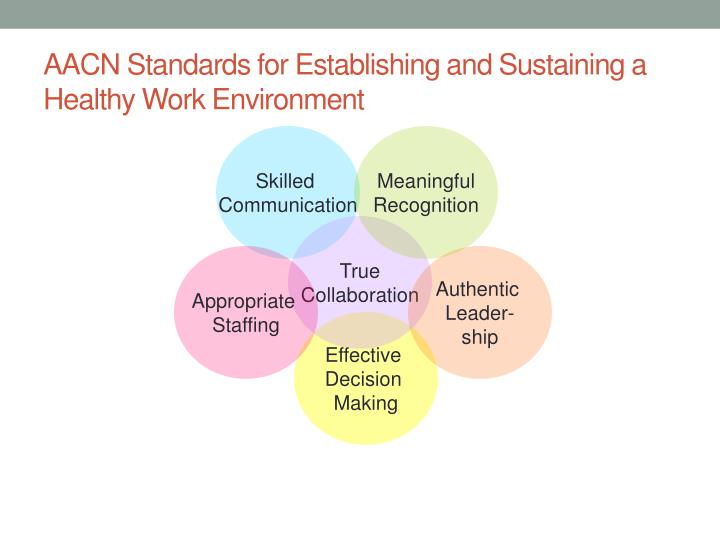AACN Standards for Establishing and Sustaining a Healthy Work Environment