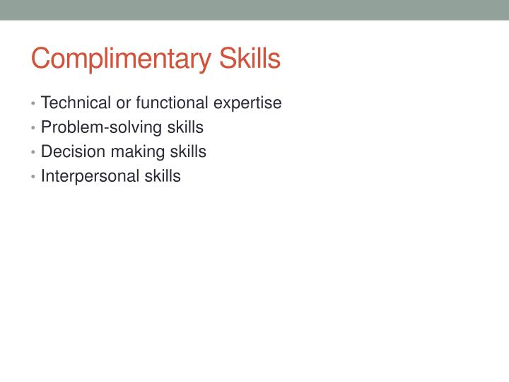 Complimentary Skills