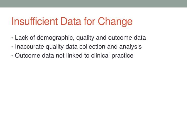 Insufficient Data for Change