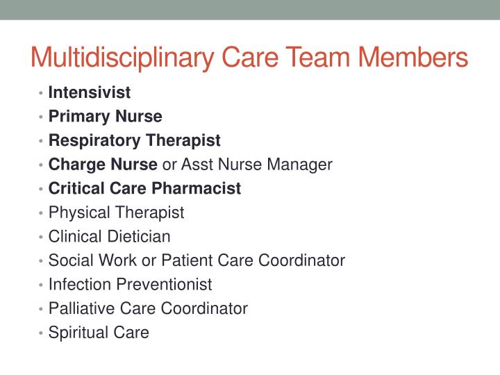 Multidisciplinary Care Team Members