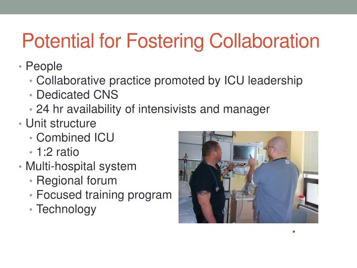 Potential for Fostering Collaboration
