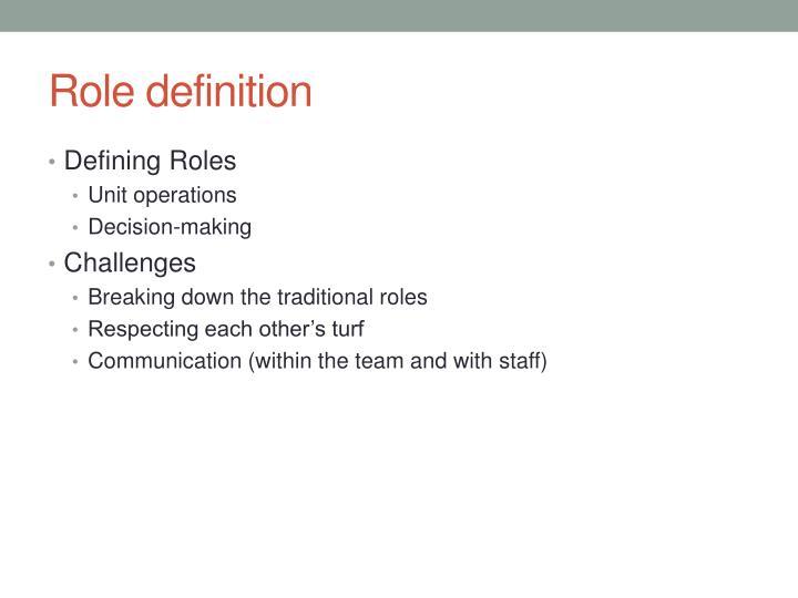 Role definition